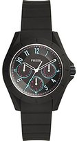 Fossil Women's Quartz Rubber and Silicone Automatic Watch, Color:Black (Model: ES4063)