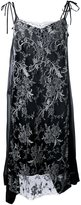 Antonio Marras embellished lace overlay shift dress - women - Silk/Acrylic/Polyester/glass - 40