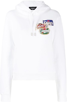 DSQUARED2 logo patch hoodie
