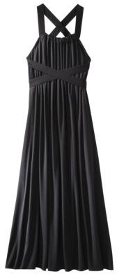 Mossimo Women's Sleeveless Black Maxi Dress w/Crisscross Back