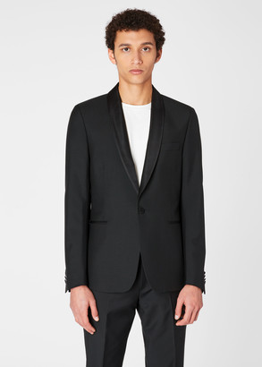 Paul Smith Men's Tailored-Fit Black Wool And Mohair Evening Blazer