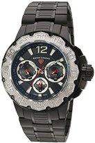 Swiss Legend Men's 'Ultrasonic' Quartz Stainless Steel Automatic Watch, Color:Black (Model: 14097SM-BB-11-SB)