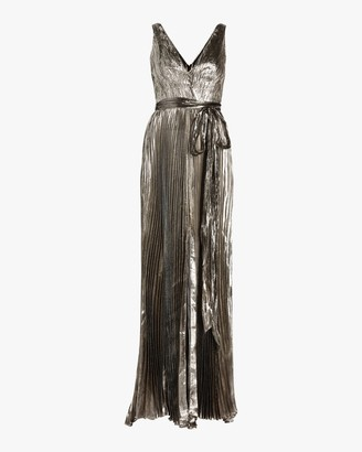 Maria Lucia Hohan Arely Lurex Chiffon Pleated Gown
