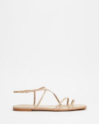Billini - Women's Brown Strappy sandals - Tamina - Size 7 at The Iconic