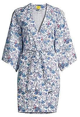 Roller Rabbit Charlie & Friends Floral Kimono Robe