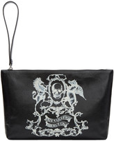 Alexander McQueen Black Medium 'Coat of Arms' Pouch