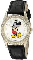 Disney Men's 'Mickey Mouse' Quartz Metal Automatic Watch, Color: (Model: W002750)