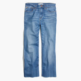 Madewell High-Rise Crop Flare Jeans in Maribel Wash