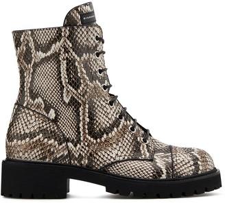 Giuseppe Zanotti Thora snakeskin-effect boots