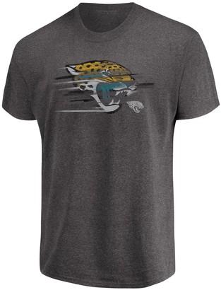 Majestic Men's Heathered Charcoal Jacksonville Jaguars Big & Tall Fierce Intensity T-Shirt