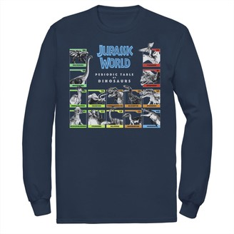 Jurassic Park Men's Jurassic World Periodic Table of Dinosaurs Tee