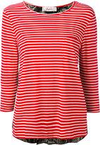 Jucca three-quarters sleeve striped T-shirt