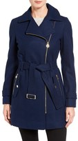 MICHAEL Michael Kors Women's Belted Asymmetrical Wool Blend Coat