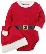 Carter's Baby Santa Suit Bodysuit & Santa Hat Set