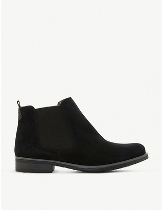 Dune Prompted faux-shearling lined suede chelsea boots