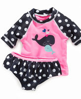 Carter's Baby Swimwear, Baby Girls Two Piece Whale Rashguard Swimsuit
