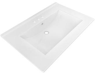 "American Imaginations Ceramic 24"" Single Bathroom Vanity Top Faucet Mount: 4"" Centers"
