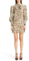 Chloé Women's Butterfly Garden Print Crepe De Chine Dress