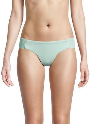 Pilyq Smocked Bandeau Bikini Bottom