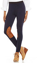 Polo Ralph Lauren Leather-Patch Jodhpur Leggings