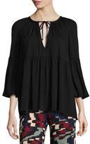 Rachel Pally Rupert 3/4-Sleeve Flutter Jersey Top, Plus Size