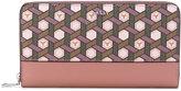 Bally - geometric zip around wallet