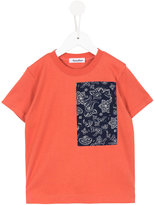 Familiar contrast pocket T-shirt - kids - Cotton - 6 yrs