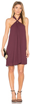 Krisa Loop Front Mini Dress in Purple. - size S (also in XS)