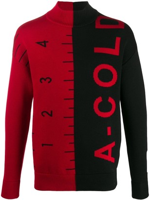 A-Cold-Wall* Jacquard Split Logo Jumper