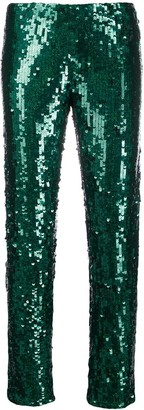 P.A.R.O.S.H. sequin embellished trousers