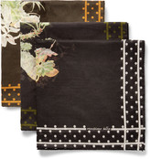 Massimo Alba - Set Of Three Floral-print Cotton Pocket Squares