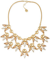 Trina Turk Gold-Tone Metallic Sphere and Crystal Statement Necklace