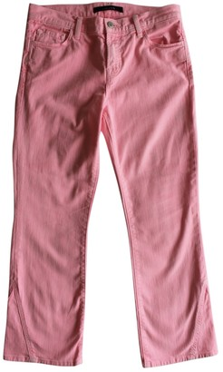 J Brand Pink Cotton - elasthane Jeans for Women