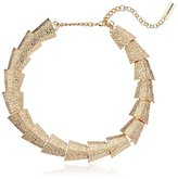 "Steve Madden Textured Sectional Necklace, 15"" + 3"" Extender"