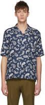 Wooyoungmi Navy Paisley Shirt