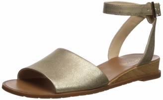 Kenneth Cole Reaction Women's Jolly Low Wedge Sandal with Ankle Strap Flat