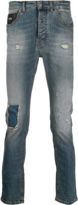 John Richmond acid wash skinny jeans