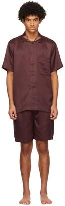 CDLP Burgundy Home Suit Short Sleeve Pyjama Set