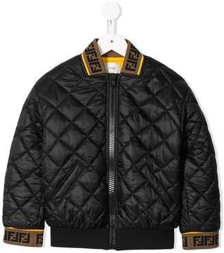 Fendi Diamond Quilted Bomber Jacket