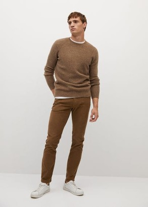 MANGO Slim fit denim-effect corduroy trousers