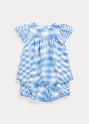 Ralph Lauren Gingham Top & Bloomer Set