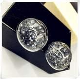 Flowers Glass bottle earrings Crystal with crystal rhinestones in a glass bottle crystal Diamond Earrings
