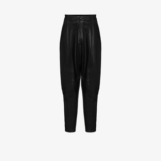 Alessandra Rich High-Waisted Tapered Trousers