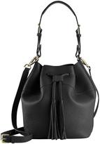 GiGi New York Women's Jenn Leather Drawstring Bucket Bag