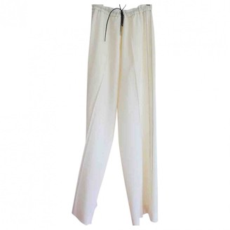 Fabiana Filippi Ecru Cotton Trousers for Women