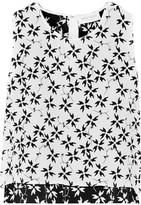 Tanya Taylor Simone cropped silk-jacquard top