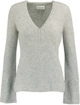 Derek Lam 10 Crosby Button-detailed ribbed cashmere sweater