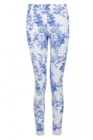 Select Fashion Fashion Womens Blue White Blue Floral Jegging - size 10