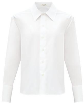 Saint Laurent Relaxed Silk Crepe De Chine Blouse - White