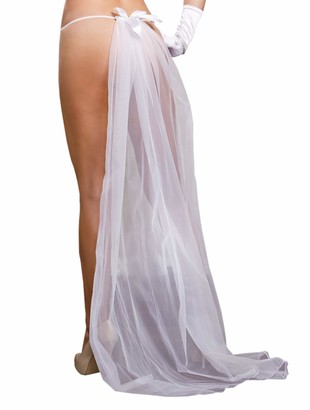 iCollection Women's Plus-Size Lace G-String and Veil